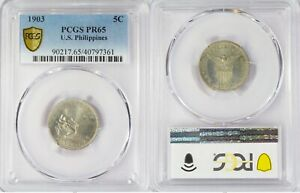 1903 US/Philippines 5 Centavos PROOF ~ PCGS PR65 ~ Allen#4.01 ~ 7361