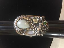 JADE OF YESTERYEAR STERLING SILVER Dragon RING sz 10