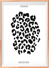 Leopard Print Pattern A4 Mylar Reusable Stencil Airbrush Painting Art