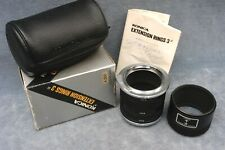 GENUINE KONICA AR EXTENSION RINGS SET 3 IN BOX WITH INSTRUCTIONS