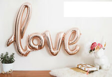 "Giant 30"" Inch Love Rose Gold Foil Balloon 30 inch Foil Balloon Birthday Wedding"