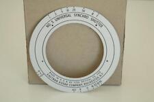 """Kodak #5 Ilex Shutter faceplate for 10"""" (250mm) Wide Field Ektar lens, MINT!"""