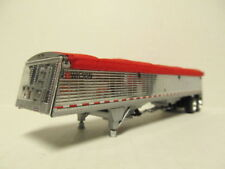 DCP 1/64 SCALE WILSON GRAIN TRAILER CHROME, SILVER HOPPERS CUSTOM SLOPED ENDS
