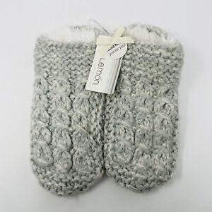 Lemon Legwear Womens One Size Clearwater Cable-Knit Slipper Socks Blue 4072 $35