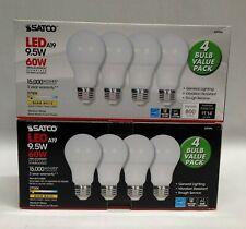8 Satco LED Light Bulb 60w Garage Door Opener Non-Dimmable 15,000 Hours 2700k