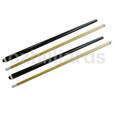 "2x 48"" 2 Piece Wood Short Cue for Kid Pool Snooker Billiard Free Post"
