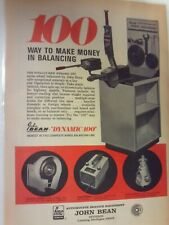 1969 John Bean Wheel Balancing Printed Vintage Ad Laminated Free Shippingn