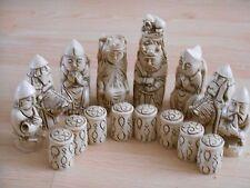 Medieval Fantasy Model Resin Chess Set in Teak & Ivory effect