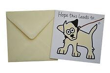 NEW BIRTHDAY CARD: DOG, Cream envelope!