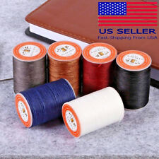 0.55mm Round Waxed Thread Leather Hand Sewing Stiching Cord Leather Craft