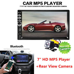 "2DIN 7"" HD Car Stereo Radio MP5 Player USB Bluetooth Touch Screen w/ Rear Camera"