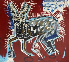 Jean-Michel Basquiat, Red Rabbit 1982, Hand Signed Lithograph
