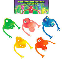 FRIGHT FINGER PUPPETS MONSTER TOYS PRIZES FAVORS LOOT BIRTHDAY PARTY BAG FILLERS