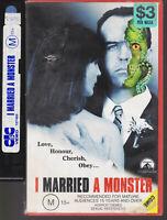VINTAGE VHS Video tape I Married A Monster  EX RENTAL MOVIE LAND