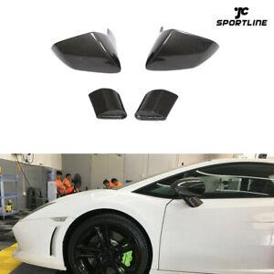 Mirror Cover Cap Fit For Lamborghini Gallardo LP550 LP560 LP570 2008-2014 Carbon