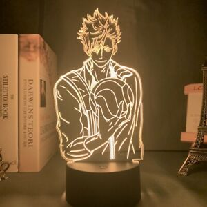 Acrylic Led Night Light Anime Haikyuu Tetsuro Kuroo 3D Lamp Bedroom Decor Gift