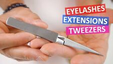 Eyelash Extensions Quality Tweezers Straight X Type Individual Cross-lock UK
