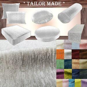 Wn07 Light Gray Chenille  Sofa Seat Patio Bench Box Cushion Bolster Cover/Runner