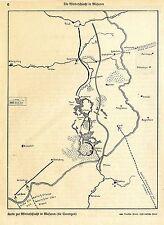 1915 Karte zur Winterschlacht in den Masuren *  WW1