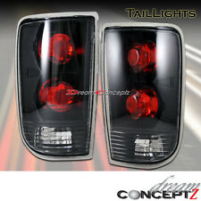 95-04 CHEVY BLAZER S10 GMC JIMMY TAIL LIGHTS LAMPS BLACK HOUSING CLEAR LENS PAIR