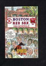 Boston Red Sox--1993 Pocket Schedule--WSBK