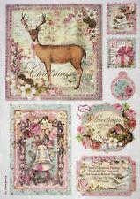 Carta di riso per Decoupage Decopatch Scrapbook Craft sheet DOLCE Cartoline di Natale