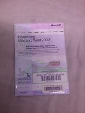 Vintage Genuine *Sealed* Microsoft Word 2000 Software