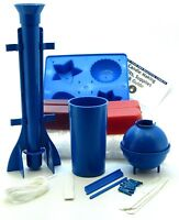 Candle making kit. Moulds, wick, wax, instructions ~ Moulds edition
