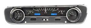 1964-65 Mustang Falcon Ranchero Dakota Digital Black Alloy & Blue VHX Gauge Kit