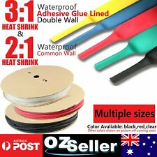 1//4/'/' Adhesive Glue Electrical Connection 3:1 Ratio Heat Shrink Tubing Black 5M