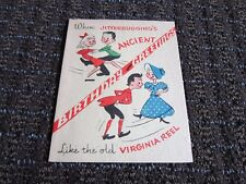 Vintage Culp Card Get Well Jitterbug Va Reel Ancient Cute Funny Unused Free Ship