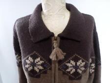 PAUL HARRIS NORDIC DESIGN Large -Womans Cardigan Zip Sweater 100% Shetland Wool