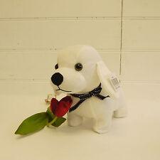 Cute White Puppy Dog Doorstop 30cm 0.95kg - 6026