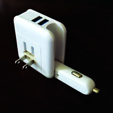 2.1A Car and Home Travel 2in1 Wall Charger Adapter Dual USB Ports Plug Foldable