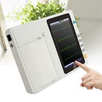 USA 7Inch Touch LCD Digital 6 Channel 12 Lead Electrocardiograph ECG/EKG Machine