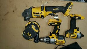 Lot of 4 Dewalt Cordless Tools For Parts dcw210 dcd996 dcf885 dcg414