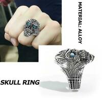 Unique Punk Gothic Buddhism Big Devil Skull Ring Jewelry Pendant Gift Best T5G4
