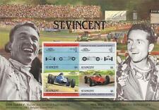 ST VINCENT DAN GURNEY PHIL HILL GRAND PRIX RACE CAR DRIVING MNH STAMP SHEETLET