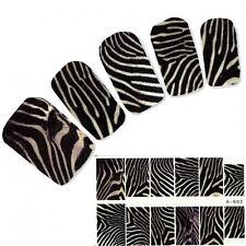Nagel Sticker Zebra Muster Afrika Art Nägel Fuß Water Decal