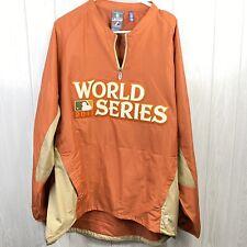 Majestic 2011 MLB World Series Baseball Pullover Mens XL CARDINALS vs. RANGERS
