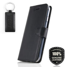 SURAZO® Echtes Ledertasche Handy Schutzhülle Wallet Case Cover -Prestige Schwarz