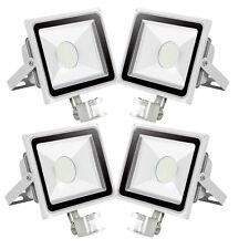 4X 50W SMD LED Fluter Aussen Flutlicht Strahler mit Bewegungsmelder IP65 Weiß