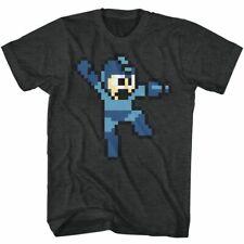 Mega Man Jumpman Black Heather Adult T-Shirt
