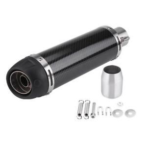 Universal Motorcycle Carbon Fiber Exhaust Muffler Pipe w/ DB Killer 38-51mm New