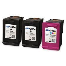2x Black & 1x Colour Remanufactured HP 302 X L Ink Cartridges for Envy 4523