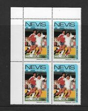 1986 NEVIS - FOOTBALL WORLD CUP -   CORNER BLOCK - PARAGUAY CHILE - MNH.
