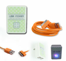 20 4 USB PORT AC WALL ADAPTER+6FT CABLE CHARGER SYNC ORANGE FOR IPHONE IPOD IPAD