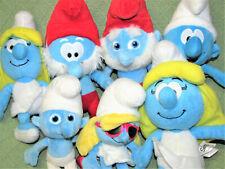 SMURF LOT Stuffed Animal Dolls SMURFETTE PAPA SMURF with TALKING Plush PEYO Toys