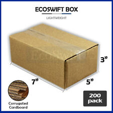 200 7x5x3 Cardboard Packing Mailing Moving Shipping Boxes Corrugated Box Cartons