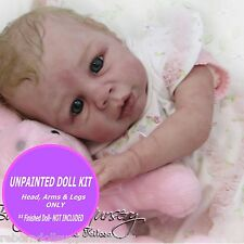 Reborn vinyl doll kit ~ Kyra baby doll kit~ Soft Vinly and on SALE - Unpainted